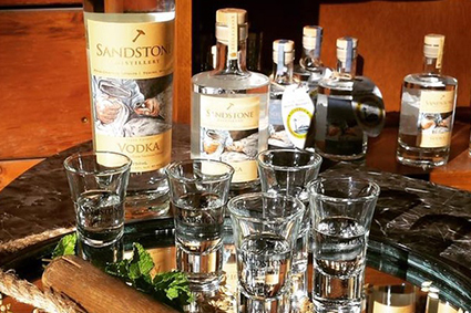 Round of Sandstone Distillery Drinks & Tour